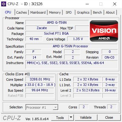 Amd G T56n 328801 Mhz Cpu Z Validator