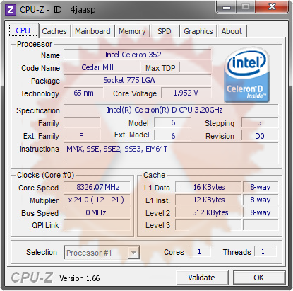 screenshot of CPU-Z validation for Dump [4jaasp] - Submitted by  radi  - 2013-09-29 13:09:50