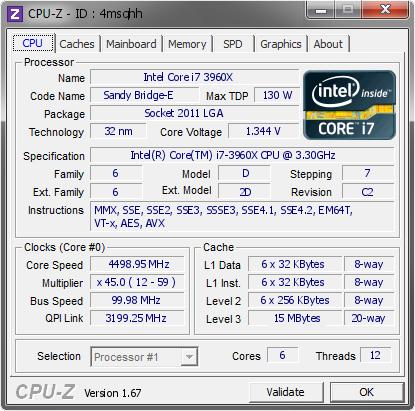 screenshot of cpu-z software validation