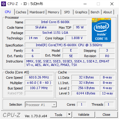 screenshot of CPU-Z validation for Dump [5d2mf6] - Submitted by  delly  - 2015-10-17 14:26:23