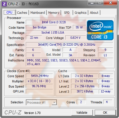 screenshot of CPU-Z validation for Dump [ft0163] - Submitted by  USER-20140920UL  - 2014-09-21 06:09:23