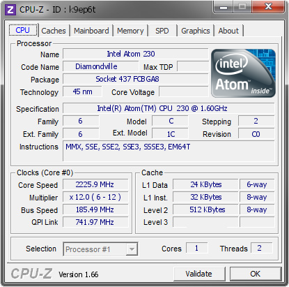screenshot of CPU-Z validation for Dump [k9ep6t] - Submitted by  Tranky  - 2013-10-02 17:10:54