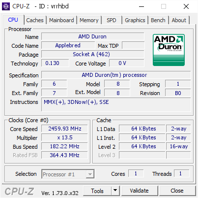 screenshot of CPU-Z validation for Dump [vrrhbd] - Submitted by  StingerYar  - 2015-08-25 10:11:33