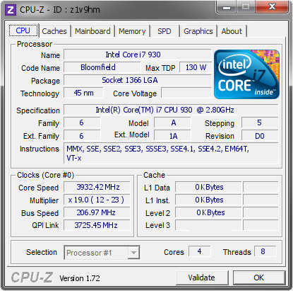 screenshot of CPU-Z validation for Dump [z1v9hm] - Submitted by  Q4Rspwn  - 2015-07-21 22:07:26