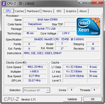 screenshot of CPU-Z validation for Dump [z3abj3] - Submitted by  SERG-ÏÊ  - 2014-12-11 23:12:43