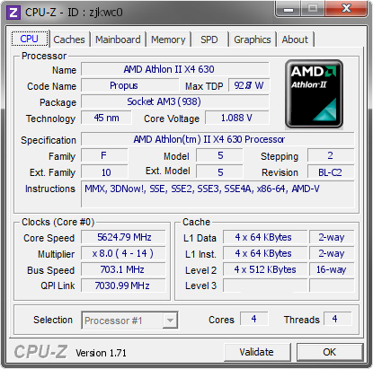 screenshot of CPU-Z validation for Dump [zjkwc0] - Submitted by  ABC123  - 2014-11-15 17:11:55