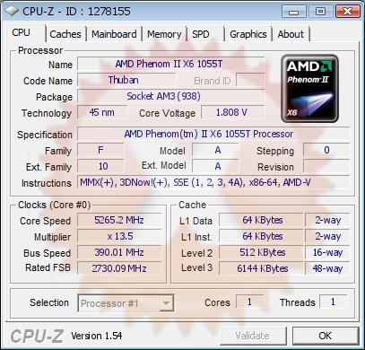 Saichania S Cpu Frequency Score 5265 2 Mhz With A Phenom Ii X6 1055t