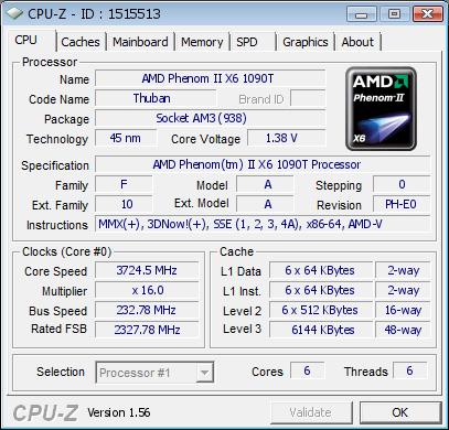 CPU screenshot