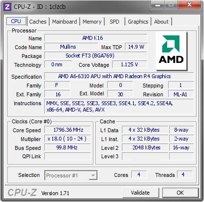 Amd K16 1796 36 Mhz Cpu Z Validator