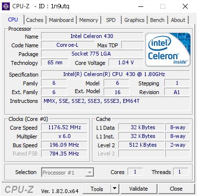DRIVER FOR INTEL R CELERON R CPU 430 1.80 GHZ