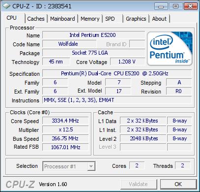 Intel Pentium E5200 ASUS P5G41T-M LX