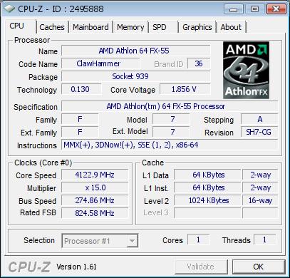 CPU-Z validate