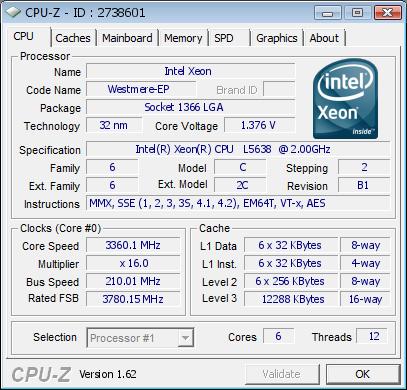 LGA1366 Xeon L5638 Overclock