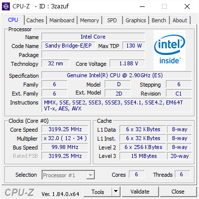 Intel Core 319925 MHz