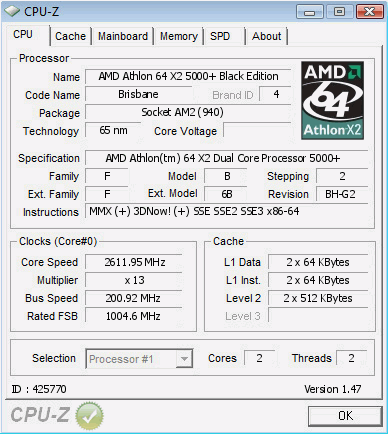 Snbase S Cpu Frequency Score 2611 2 Mhz With A Athlon 64 X2 5000 Brisbane