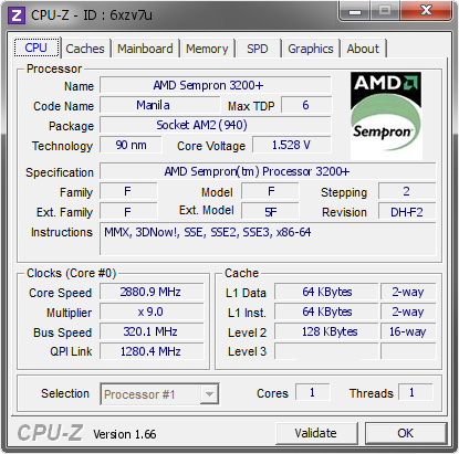 screenshot of CPU-Z validation for Dump [6xzv7u] - Submitted by  _Mak·Dll_  - 2013-09-24 19:09:57