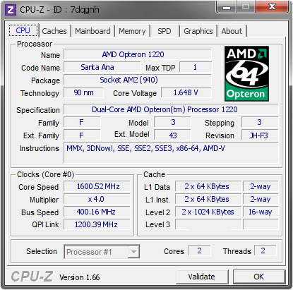 screenshot of CPU-Z validation for Dump [7dqgnh] - Submitted by  Aleslammer  - 2013-09-15 16:09:32