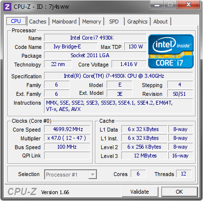 screenshot of CPU-Z validation for Dump [7j4sww] - Submitted by  CHRIS-NYC_PC  - 2013-12-11 02:12:28