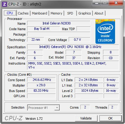 INTEL R CELERON R CPU WINDOWS 7 DRIVER