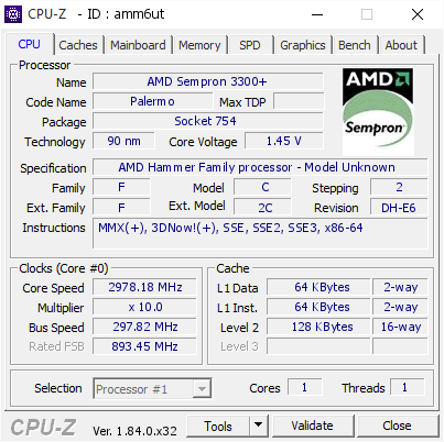 Top 15 Highest frequencies for AMD Hammer Family processor