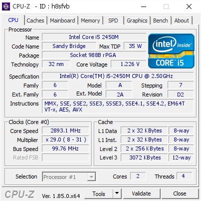 INTELR CORETM I5-2450M CPU DRIVERS