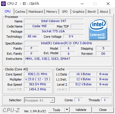 screenshot of CPU-Z validation for Dump [i3zrkh] - Submitted by  ROG-Ivan Qu/Q33  - 2020-12-09 13:12:08