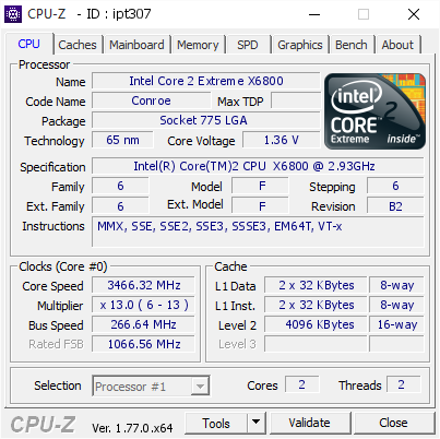 Core 2 duo e6700 and core 2 extreme x6800 review hardware secrets.