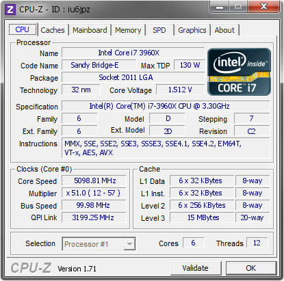 screenshot of CPU-Z validation for Dump [iu6jpz] - Submitted by  TOBIAS-DATOR  - 2014-10-29 15:10:00