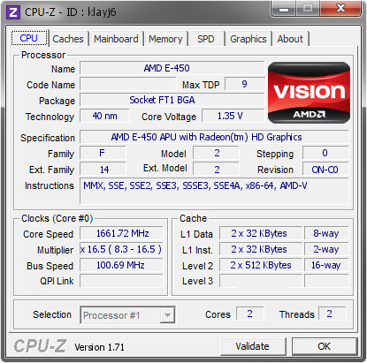 screenshot of CPU-Z validation for Dump [klayj6] - Submitted by  SOZA-PC  - 2015-02-01 05:02:29