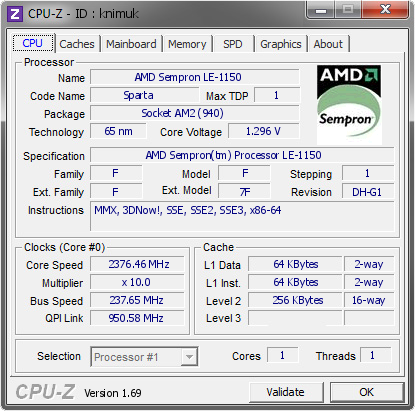 AMD SEMPRON LE-1150 WINDOWS 7 DRIVER DOWNLOAD