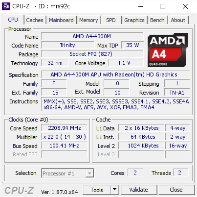 AMD A4-4300M APU DESKTOP PROCESSOR DOWNLOAD DRIVER