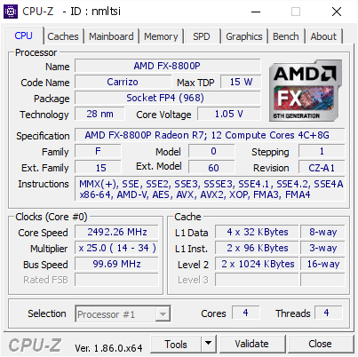 AMD FX-8800P AMD Radeon R7 Driver Windows