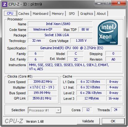 Valgaur`s Cinebench - R15 score: 1479 cb with a Xeon L5640