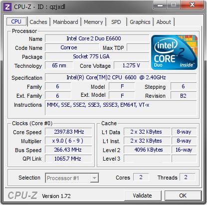 intel core 2 duo 2.4 ghz (e6600)