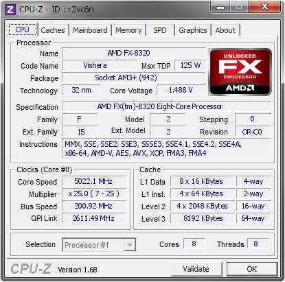 Amd Fx 8320 5022 1 Mhz Cpu Z Validator
