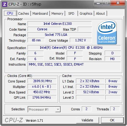 INTEL CELERON CPU E1200 DOWNLOAD DRIVERS