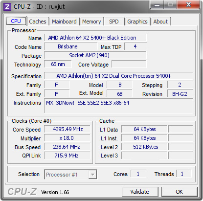 screenshot of CPU-Z validation for Dump [ruvjut] - Submitted by  IT168_OCP-Carter  - 2008-12-24 16:12:21