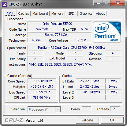 screenshot of CPU-Z validation for Dump [v8xh9r] - Submitted by  Titin 1092387456  - 2014-07-06 17:07:53