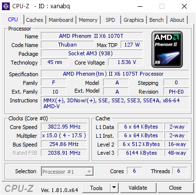 AMD PHENOM II X6 1075T DRIVERS FOR WINDOWS XP