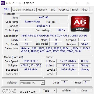 Amd A6 2999 3 Mhz Cpu Z Validator
